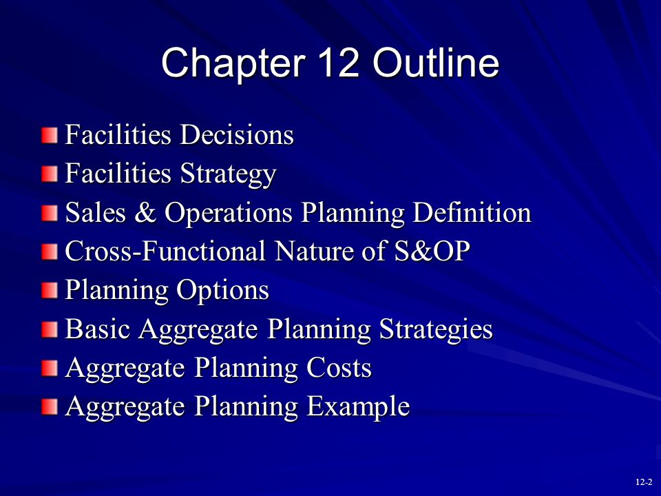 Operations Management Contemporary Concepts and Cases Chapter Twelve Capacity Planning Copyright © 2011 by The McGraw-Hill Companies, Inc.