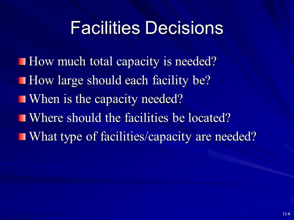 12-5 Capacity Utilization Capacity utilization is defined relative to actual output and capacity: Utilization = actual output/capacity X 100% Capacity