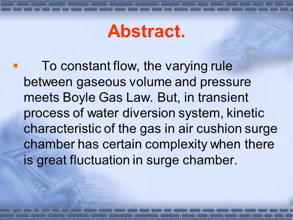  pressure diversion tunnel is 2715.213m long (to centerline of surge chamber), tunnel centerline elevation near surge chamber is 463.524 meters, and tunnel diameter after lined is 6.0m.