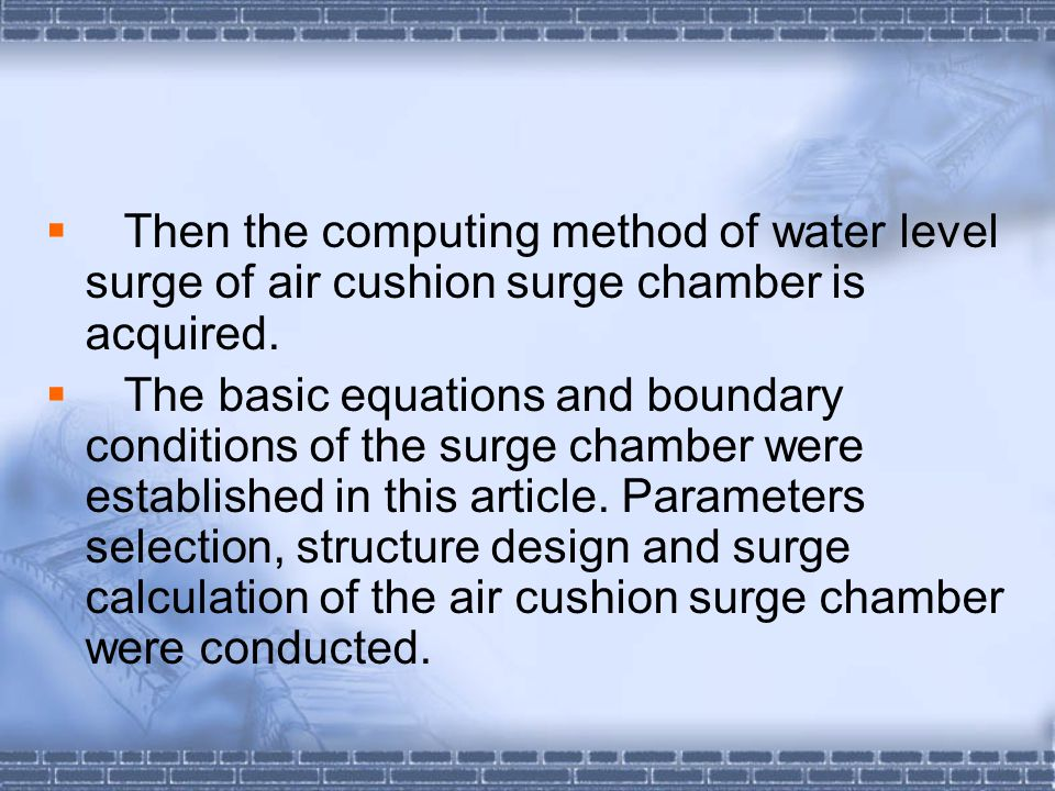 Fig. 2 . Fluctuation Course of Surge in air cushion Surge Chamber (Lo=10m, n=1.4)