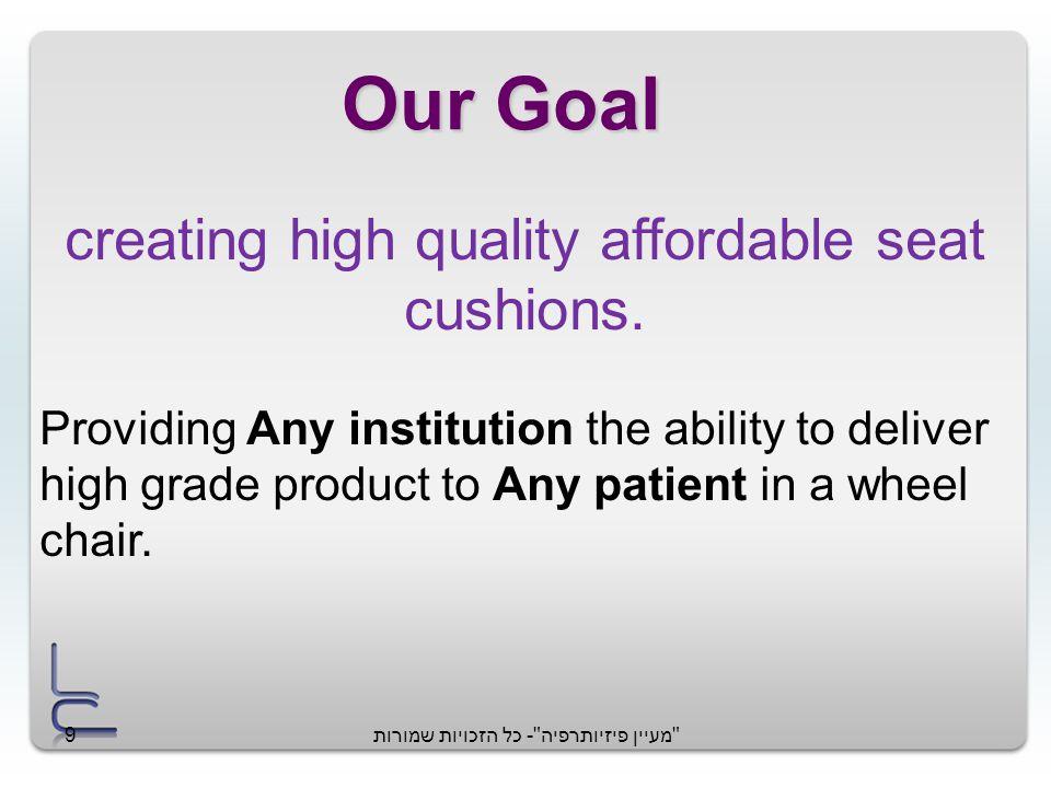 מעיין פיזיותרפיה - כל הזכויות שמורות9 Our Goal creating high quality affordable seat cushions.