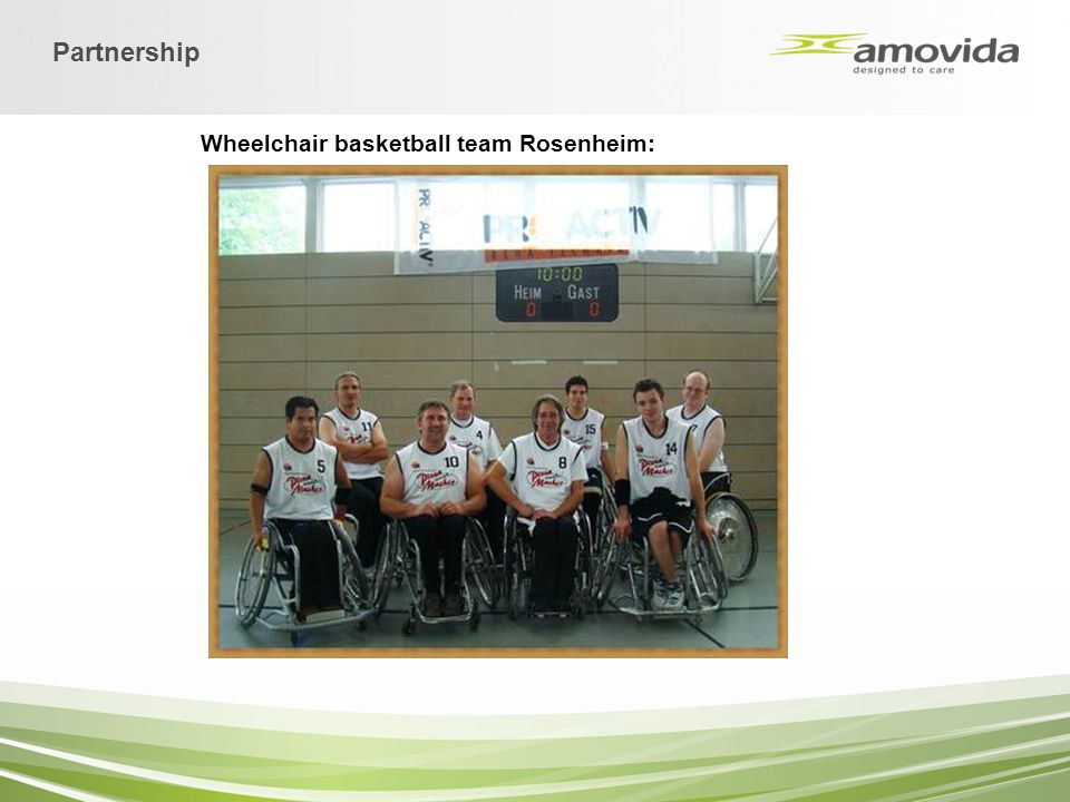 Wheelchair basketball team Rosenheim: Partnership
