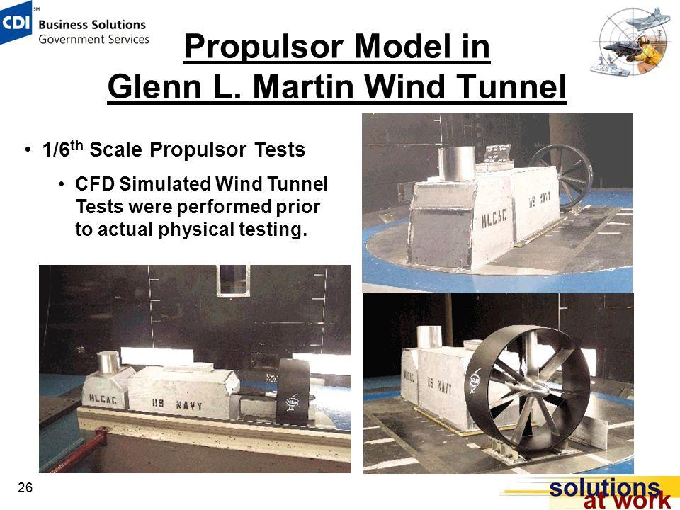 26 Propulsor Model in Glenn L.