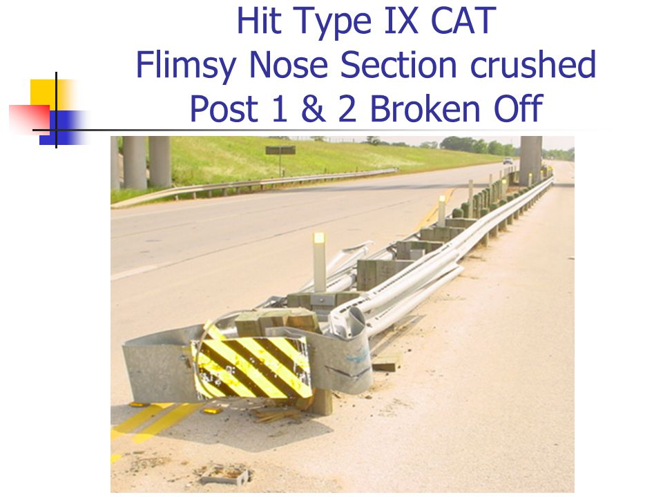 Hit Type IX CAT Flimsy Nose Section crushed Post 1 & 2 Broken Off