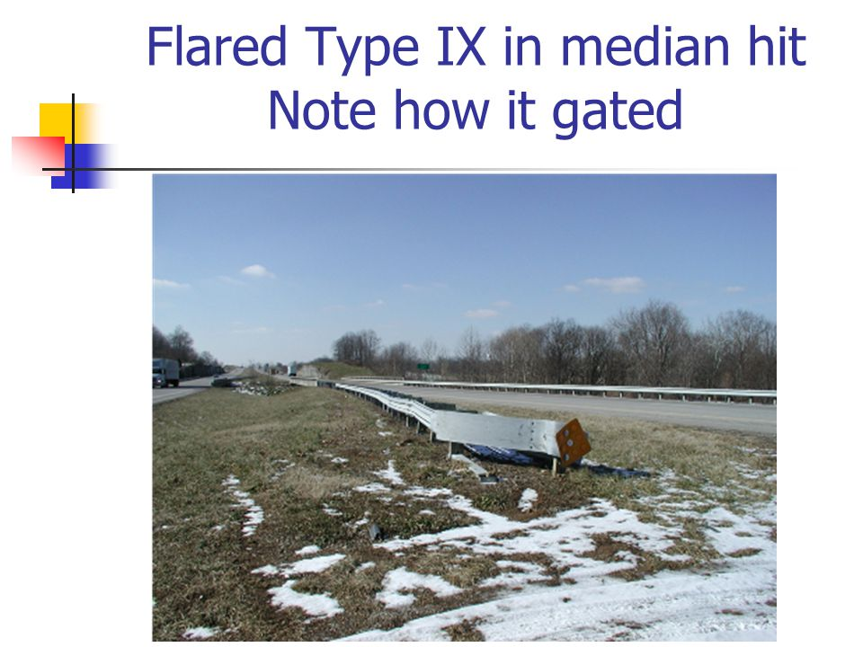 Flared Type IX in median hit Note how it gated