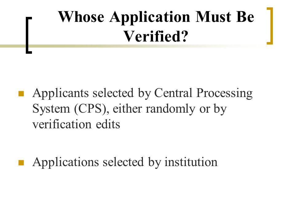 Verification is….