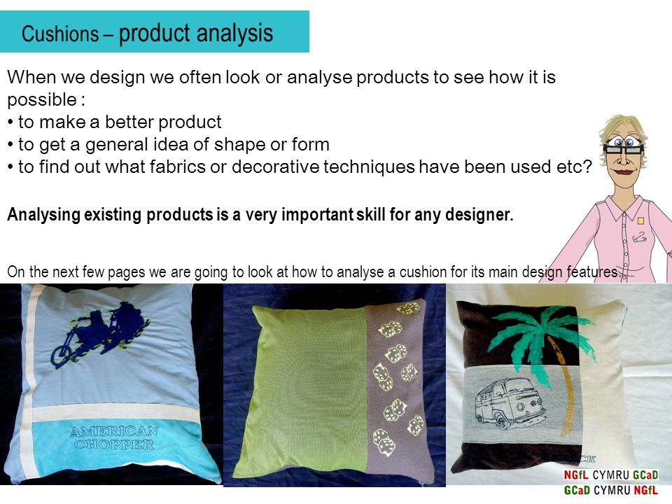 Cushions – product analysis Which cushion do you like the most.