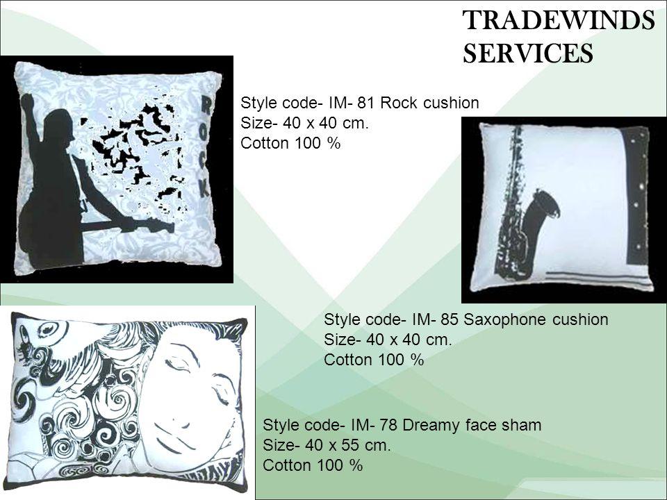 Style code- IM- 81 Rock cushion Size- 40 x 40 cm.