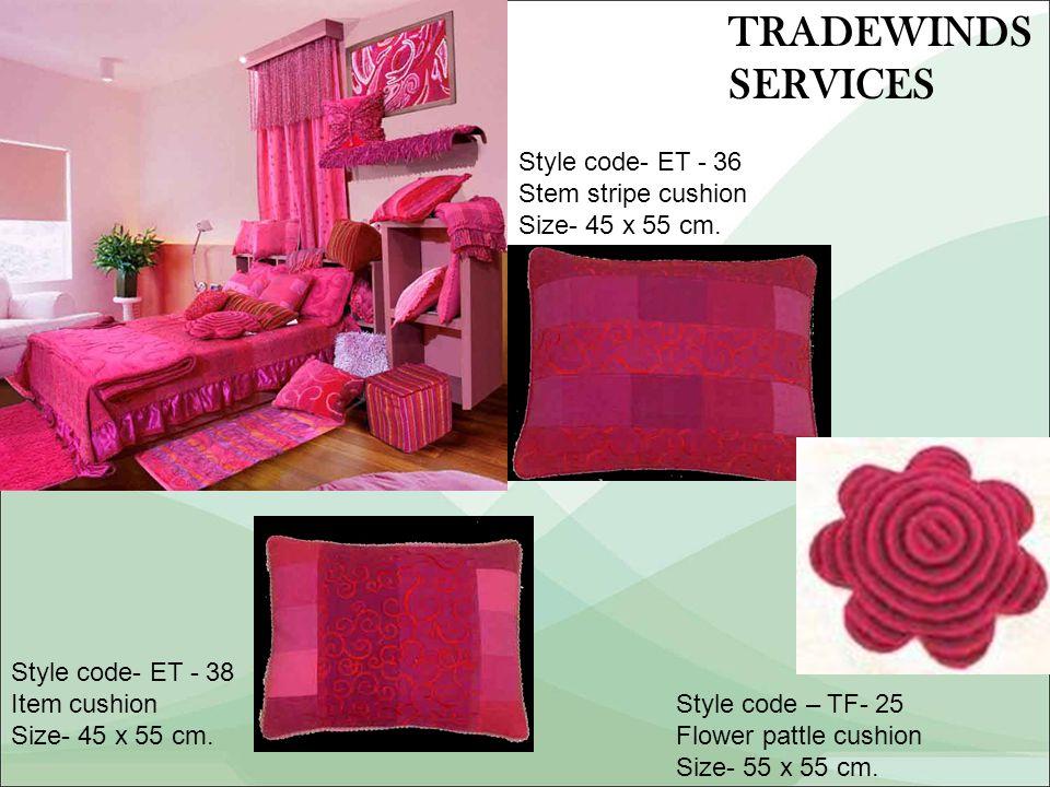 Style code- ET - 36 Stem stripe cushion Size- 45 x 55 cm.