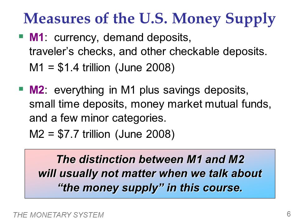 THE MONETARY SYSTEM 7 Central Banks & Monetary Policy  Central bank: an institution that oversees the banking system and regulates the money supply  Monetary policy: the setting of the money supply by policymakers in the central bank  Federal Reserve (Fed): the central bank of the U.S.