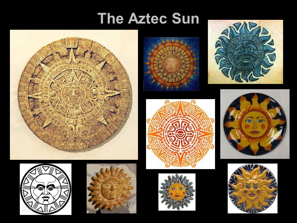 The Aztecs worshipped many gods, especially the Sun god.