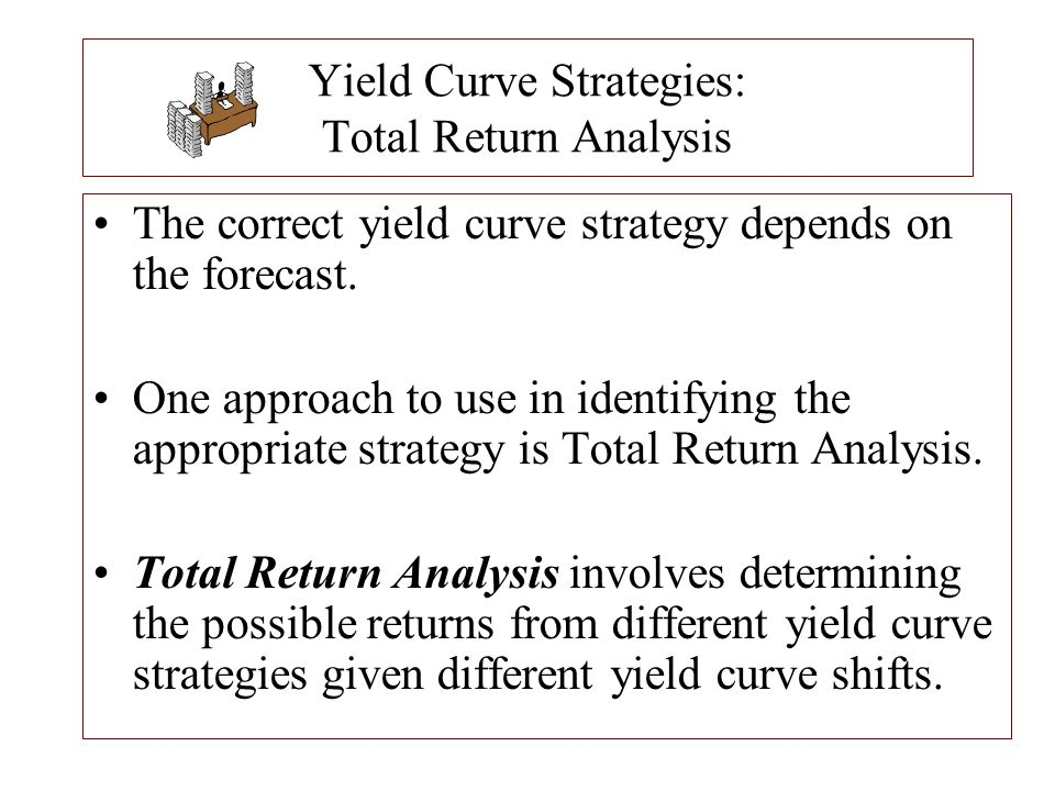 Yield Curve Strategies: Total Return Analysis The correct yield curve strategy depends on the forecast. One approach to use in identifying the appropr