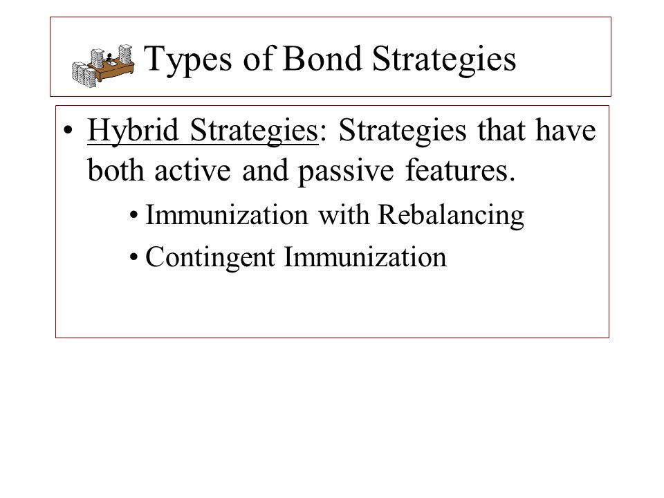 Contingent Immunization If the company immunizes, it would liquidate the original 10-year bond and purchase a bond with HD = 2.5 years yielding 8% (assume flat yield curve at 8%).