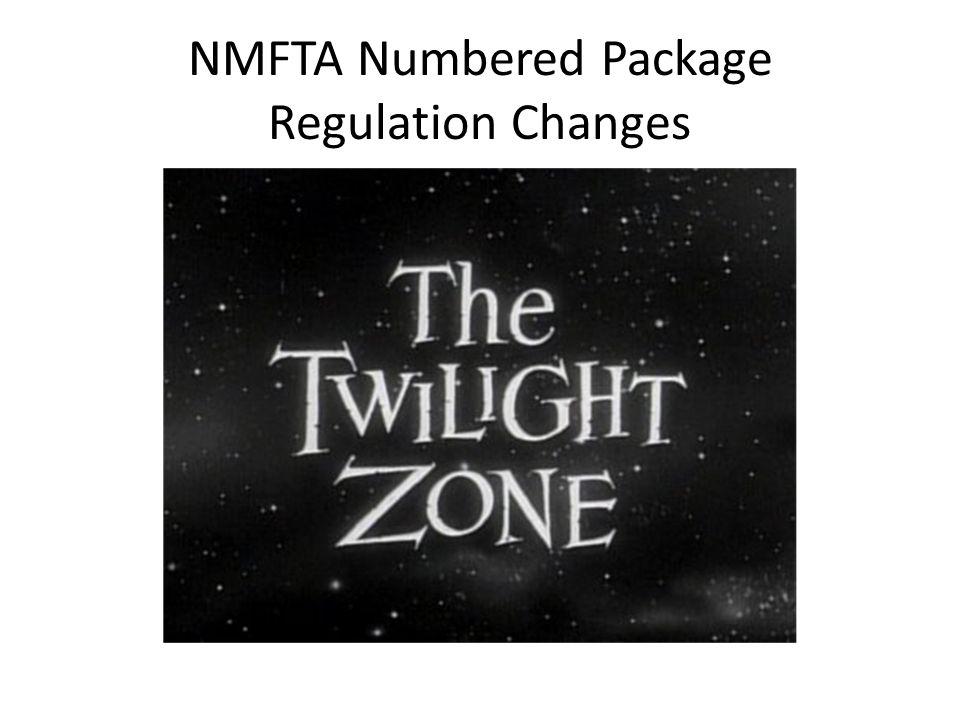 NMFTA Numbered Package Regulation Changes