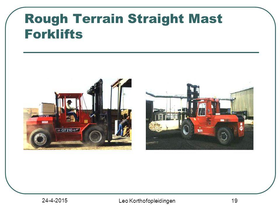 24-4-2015 Leo Korthofopleidingen 18 Class VII - Rough Terrain Forklift Trucks Straight-mast forklift Extended-reach forklift All rough terrain forklift trucks