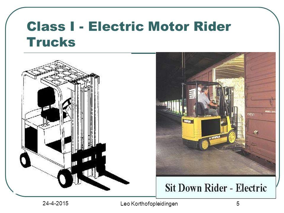 24-4-2015 Leo Korthofopleidingen 5 Class I - Electric Motor Rider Trucks