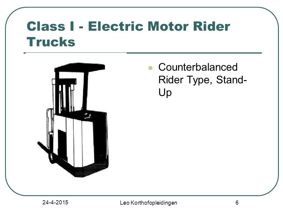 24-4-2015 Leo Korthofopleidingen 6 Class I - Electric Motor Rider Trucks Counterbalanced Rider Type, Stand- Up