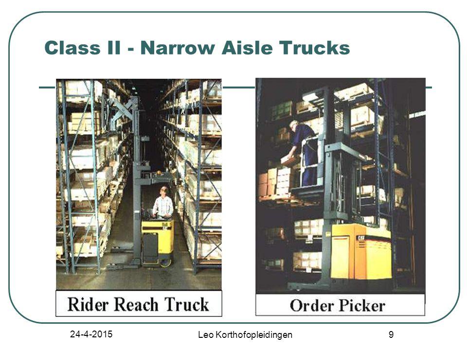24-4-2015 Leo Korthofopleidingen 49 Stability of Powered Industrial Trucks Definitions General Basic Principles Stability Triangle Longitudinal Stability Lateral Stability Dynamic Stability