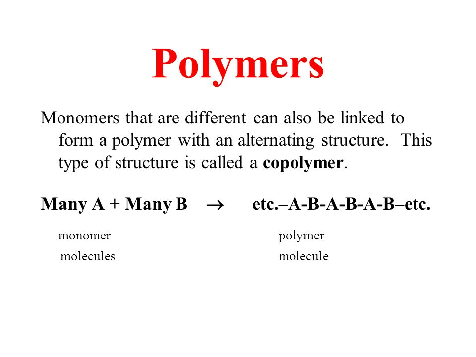 Polymers Thank you for joining us today to celebrate Chemistry Day.