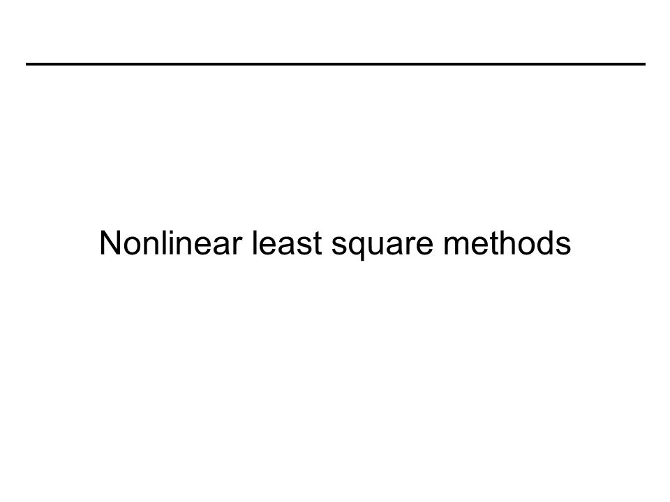 Nonlinear least square methods