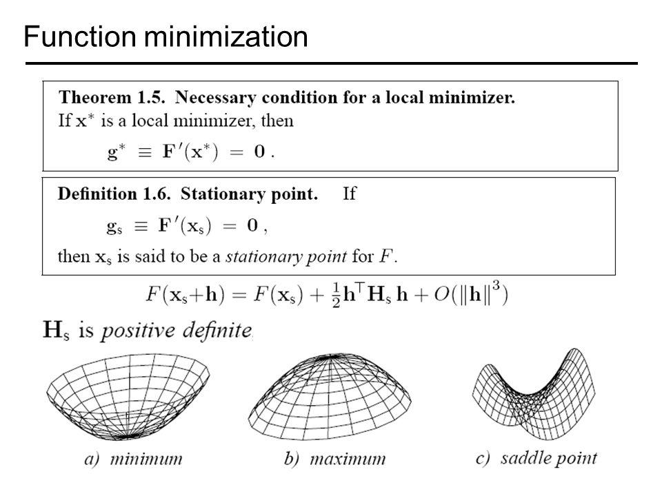 Function minimization