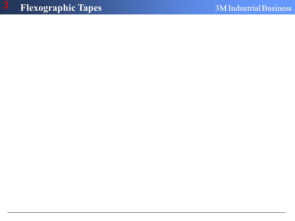 Flexographic Tapes 3M Industrial Business 3