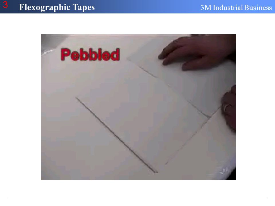 Flexographic Tapes 3M Industrial Business 3 Mounting Tips and Techniques Plate Demounting Low and Slow