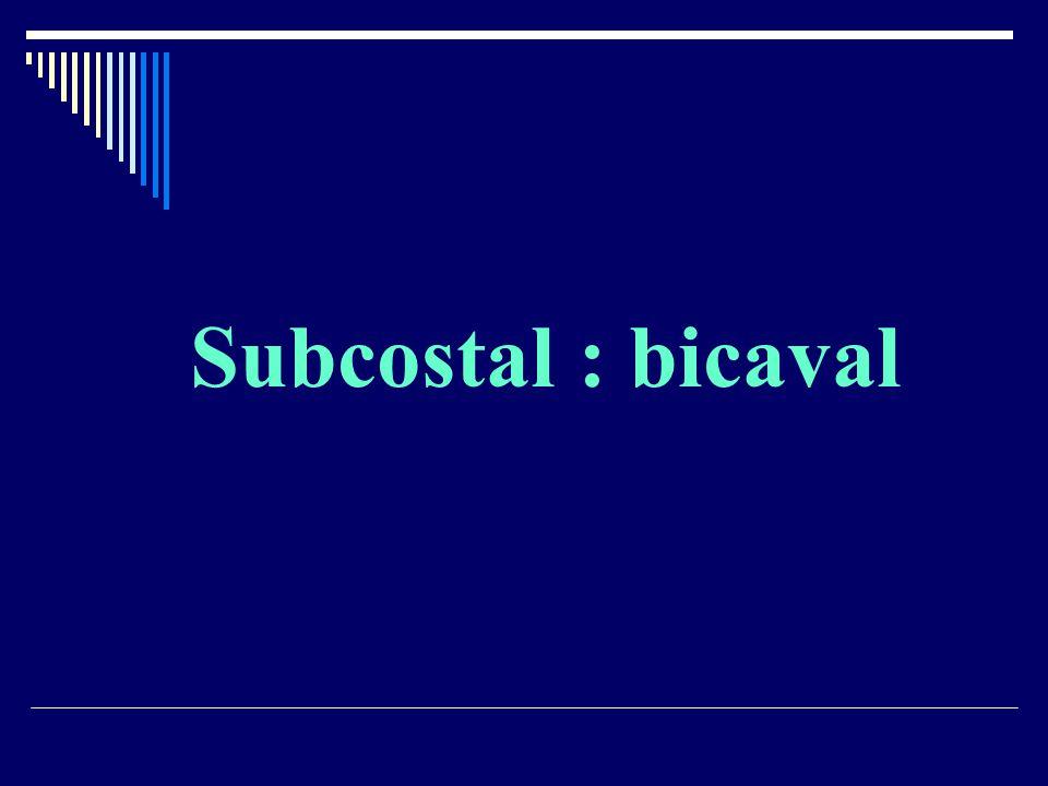Subcostal : bicaval