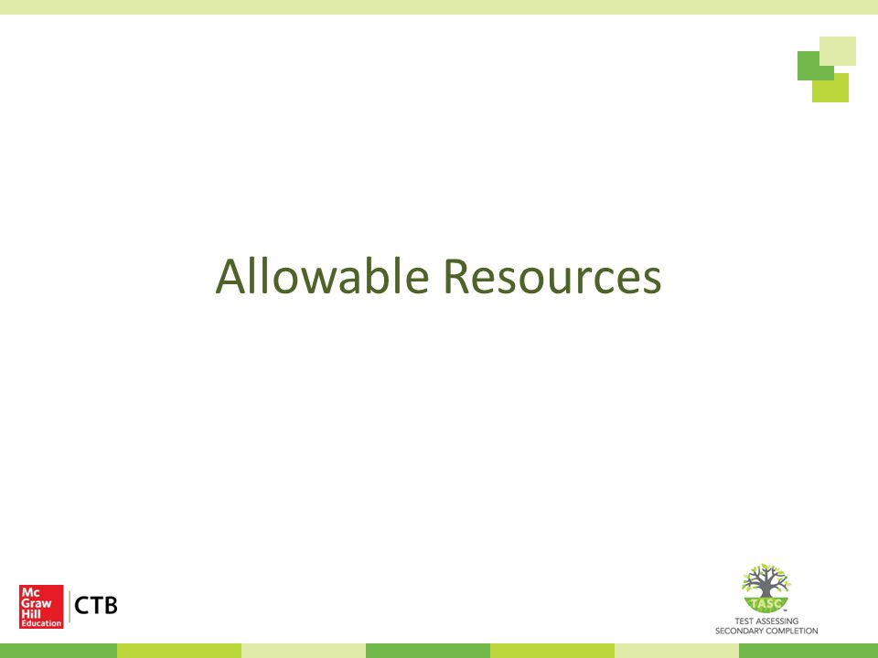 Allowable Resources