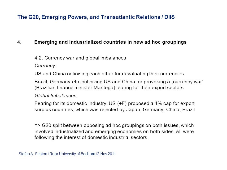 The G20, Emerging Powers, and Transatlantic Relations / DIIS 4.