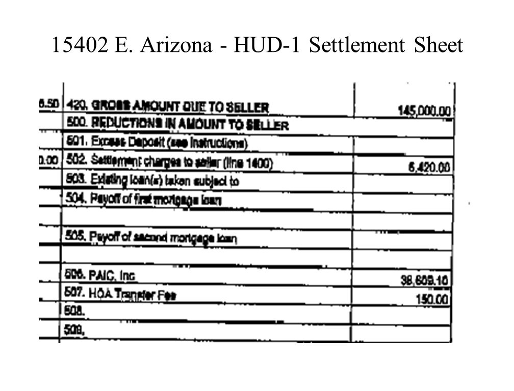 15402 E. Arizona – Additional Provisions