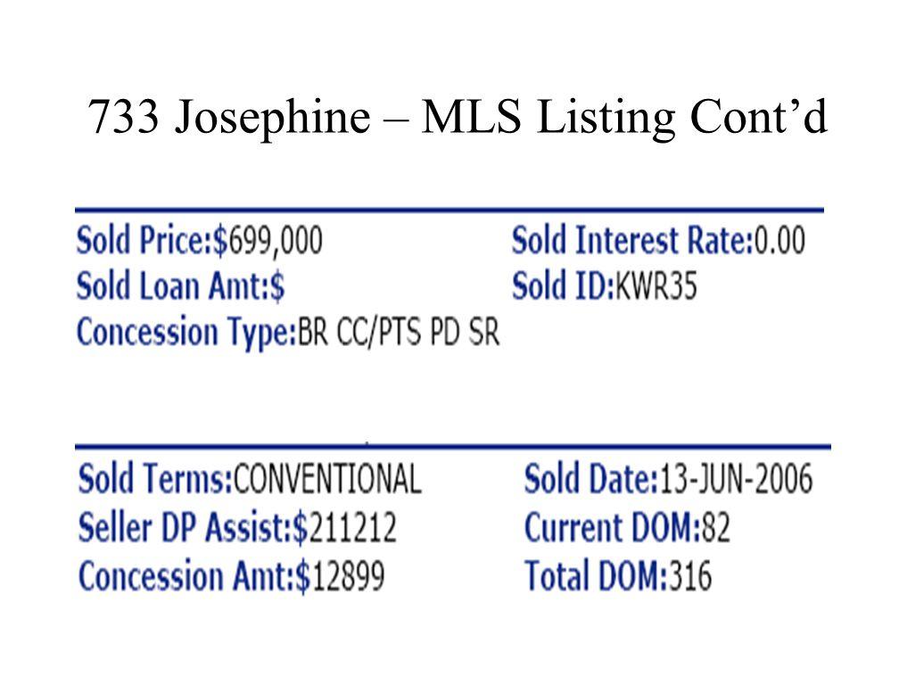 733 Josephine St. – MLS Listing