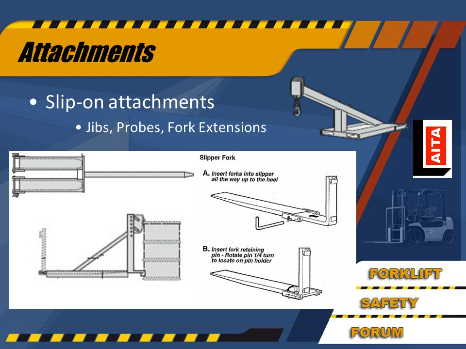 Attachments Slip-on attachments Jibs, Probes, Fork Extensions