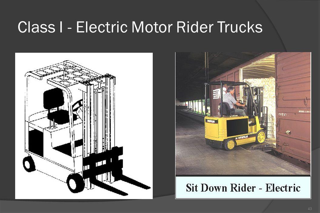 Class I - Electric Motor Rider Trucks 43