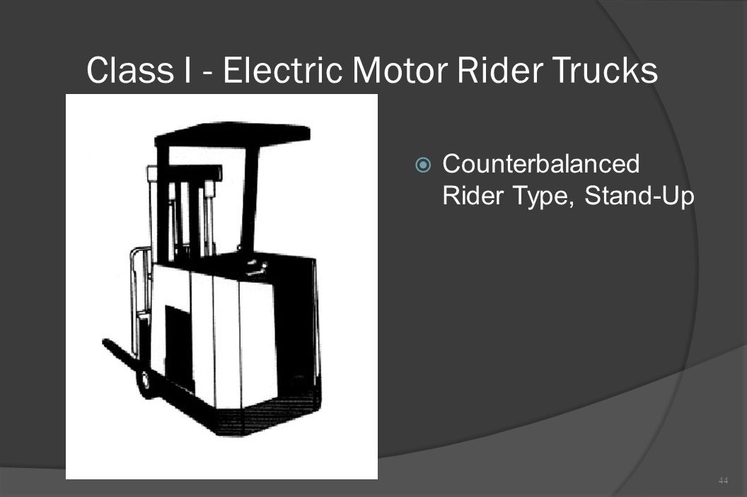 Class I - Electric Motor Rider Trucks  Counterbalanced Rider Type, Stand-Up 44