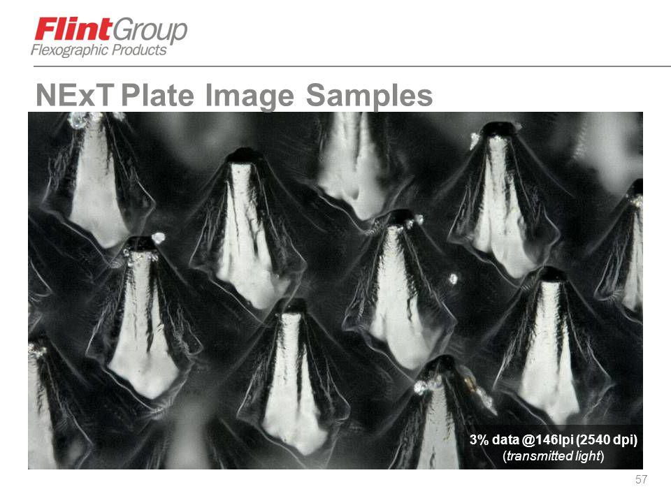 57 3% data @146lpi (2540 dpi) (transmitted light) NExT Plate Image Samples