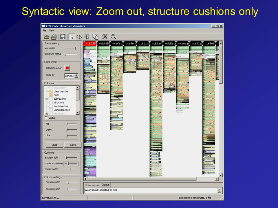 Syntactic view: Zoom out, structure cushions only