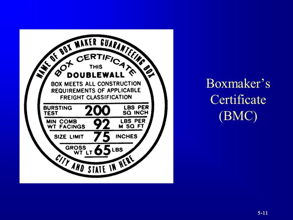 5-11 Boxmaker's Certificate (BMC)