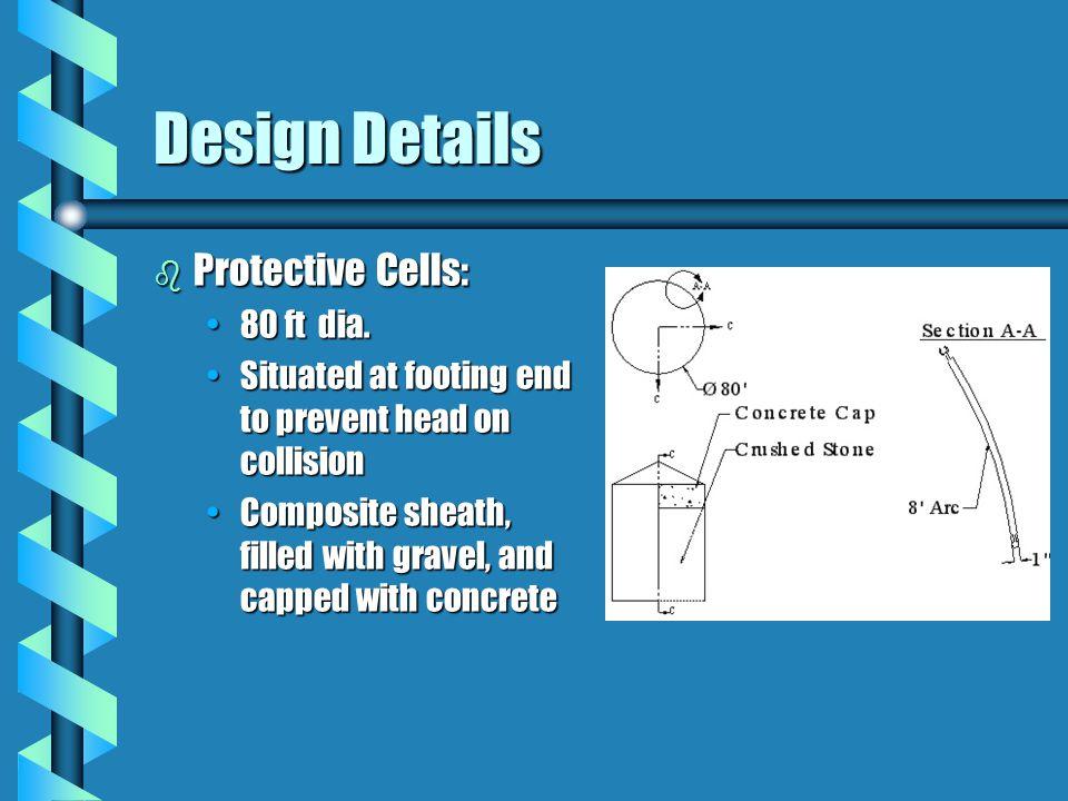 Design Details b Protective Cells: 80 ft dia.80 ft dia.