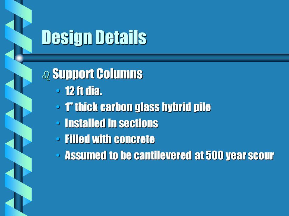 Design Details b Support Columns 12 ft dia.12 ft dia.