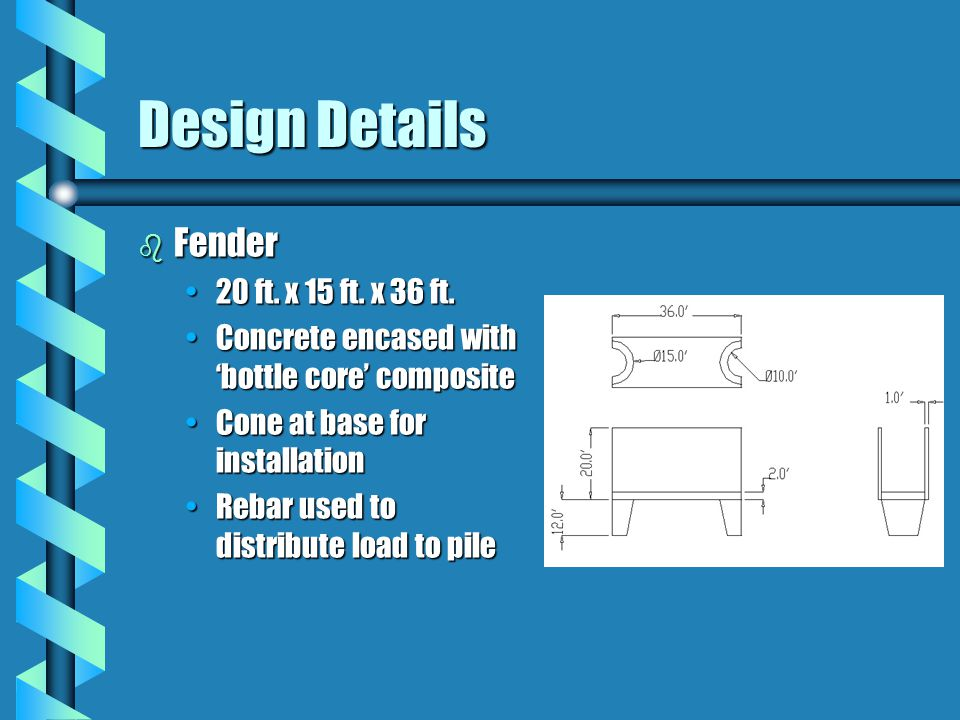Design Details b Fender 20 ft. x 15 ft. x 36 ft.20 ft.