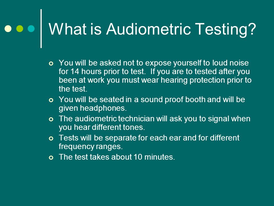 What is Audiometric Testing.