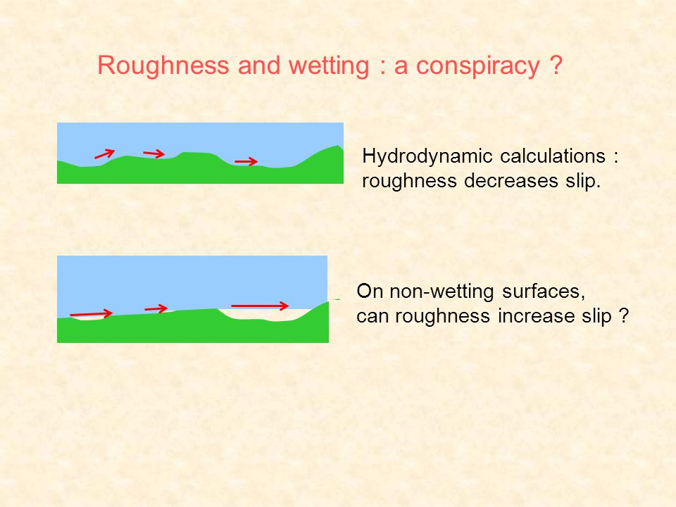 On non-wetting surfaces, can roughness increase slip .
