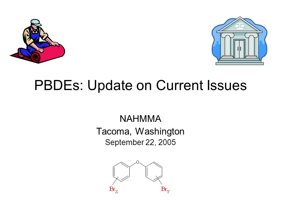 PBDEs: Update on Current Issues NAHMMA Tacoma, Washington September 22, 2005