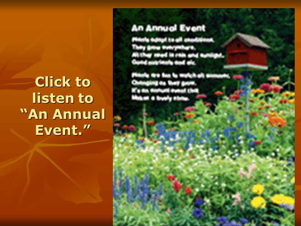 """Click to listen to """"An Annual Event."""""""