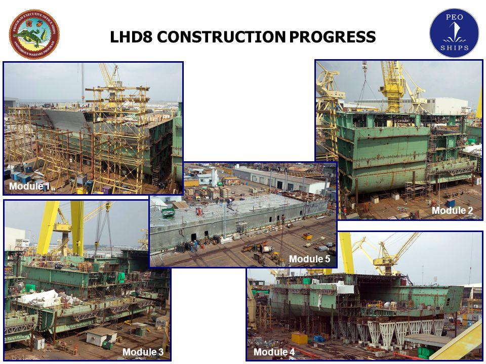 LHD8 CONSTRUCTION PROGRESS Module 1 Module 2 Module 5 Module 4Module 3