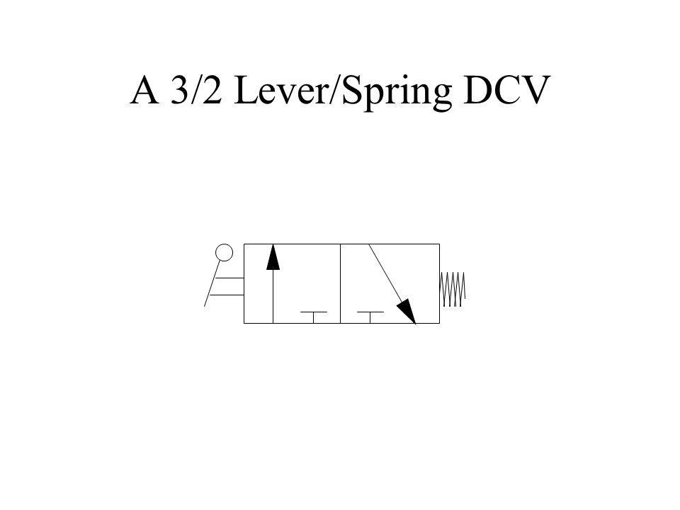 A 3/2 Lever/Spring DCV