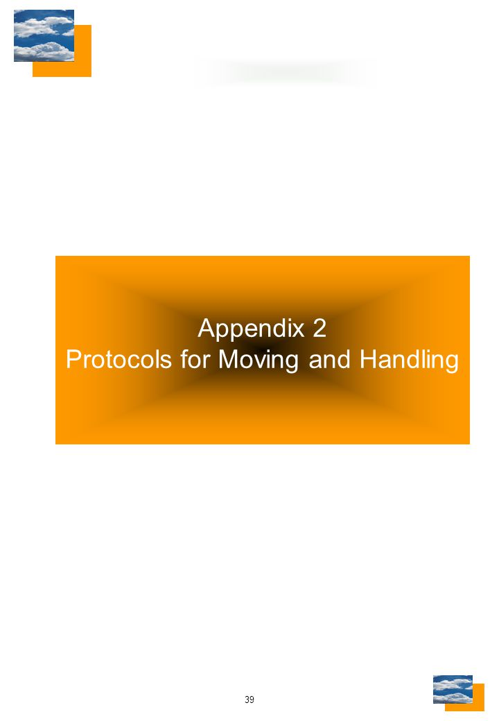 39 Appendix 2 Protocols for Moving and Handling