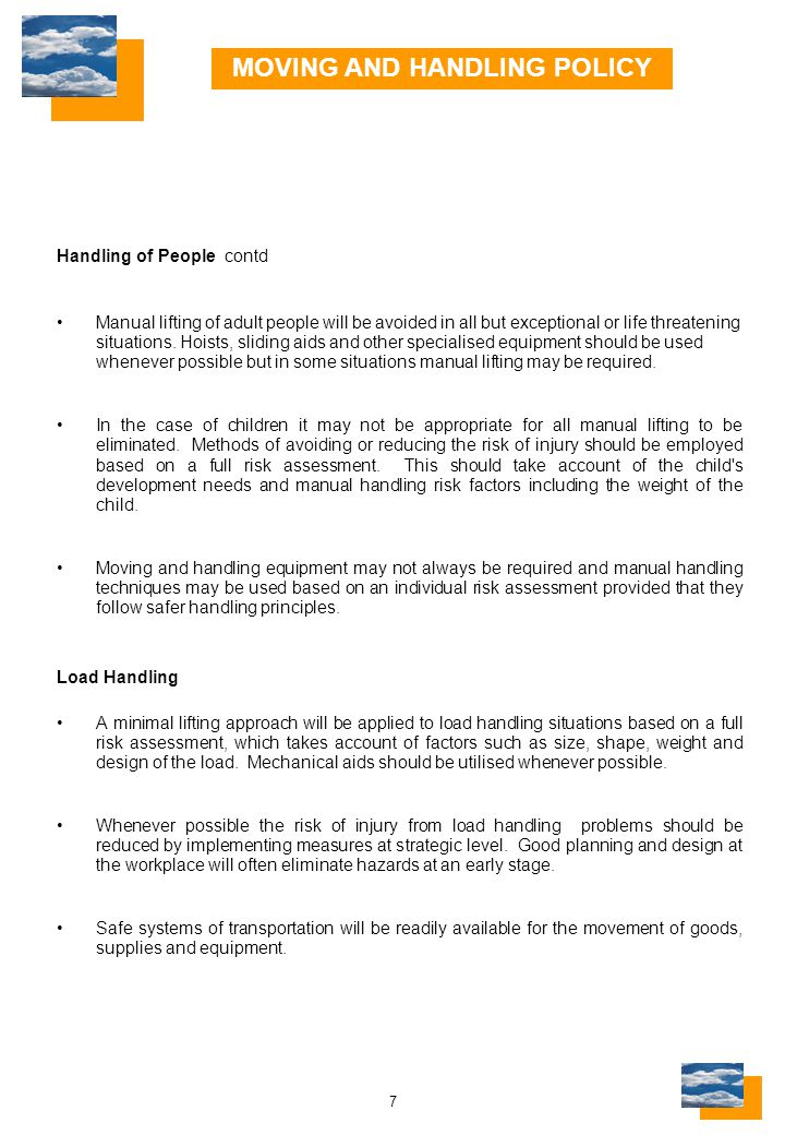 28 LINCOLNSHIRE INTER-AGENCY MOVING AND HANDLING GROUP PROBLEMS/DEFICIENCIES SHEET (page 5 of 6) Post TitleAgency/AuthoritySummary of Duties/Responsibilities Held Date StartedDate Left Post TitleAgency/AuthoritySummary of Duties/Responsibilities Held Date StartedDate Left Details of Remaining Problems/Deficiencies Action/Measures Needed Person Reported to Reported By (Sign & Date) Person's Name: …………………………………….