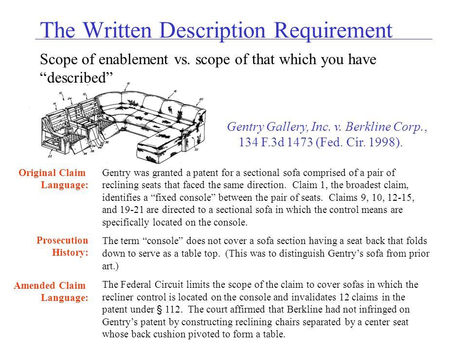 The Written Description Requirement Scope of enablement vs.